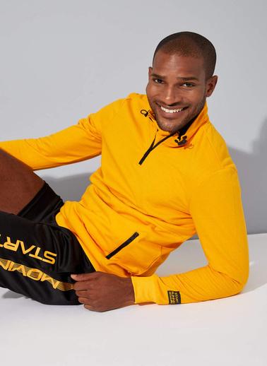 DeFacto Sporcu Sweatshirt Sarı